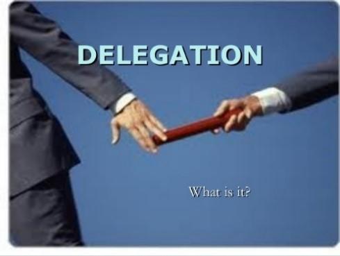 Delegation baton hand off