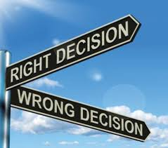 Making right or wrong decision changes your circumstances