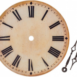 Clock with no hands