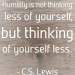 Humility quote by C.S.Lewis